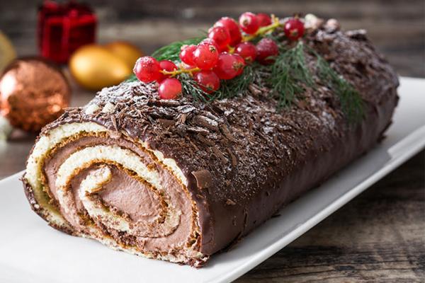 Receta del tronco de chocolate navideño