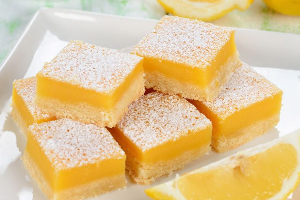 Receta de las barritas de limón