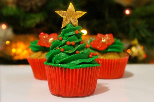 Receta de los Cupcakes navideños